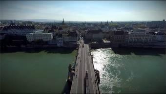 Luftaufnahme aus dem Basel Tourismus Werbeclip.