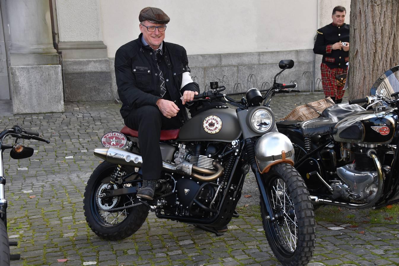 Der Gentleman's Ride findet weltweit am 29. September statt. Bernhard Städler organisiert den Ride im FM1-Land. (© Städler Motos AG)