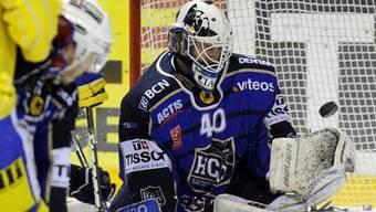 La-Chaux-de-Fonds-Goalie Damiano Ciacci mit Shutout.