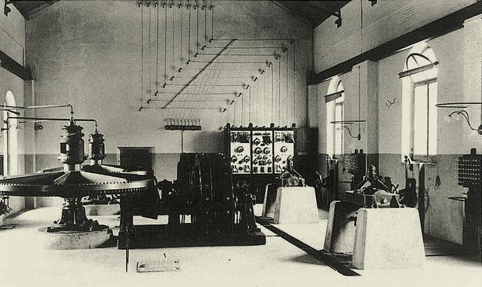 Kraftwerk Kappelerhof im Jahr 1893