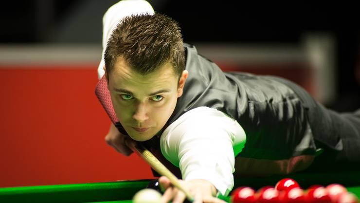 Der Fricktaler Snooker-Profi Alexander Ursenbacher kämpfte um sein WM-Ticket. (Archivbild)
