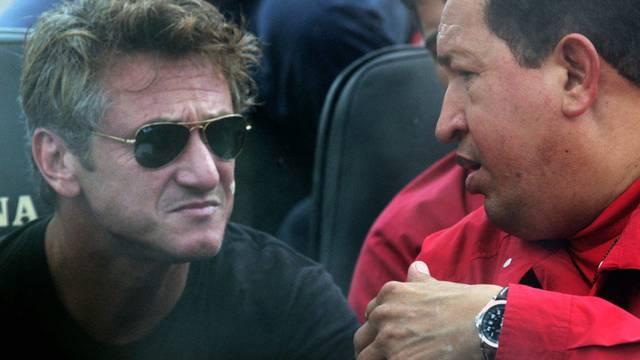 Der Schauspieler Sean Penn (l.) hat den Präsidenten Venezuelas bereits im August 2007 besucht (Archiv)