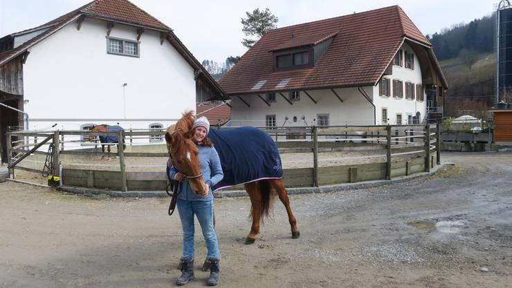 Claudia Gerber (33), Betriebsleiterin des Reitsportzentrums «alte Mühle».