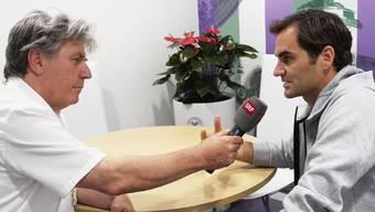 Radiojournalist Bernhard Schär (l.) begleitete Roger Federer seine ganze Karriere. Am Wirtschaftsforum hätte er Einblicke in das Leben des Tennismaestros geben sollen.
