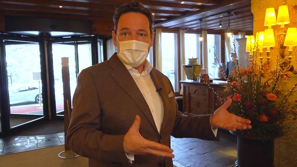 Im Gstaad Palace: Der Patron