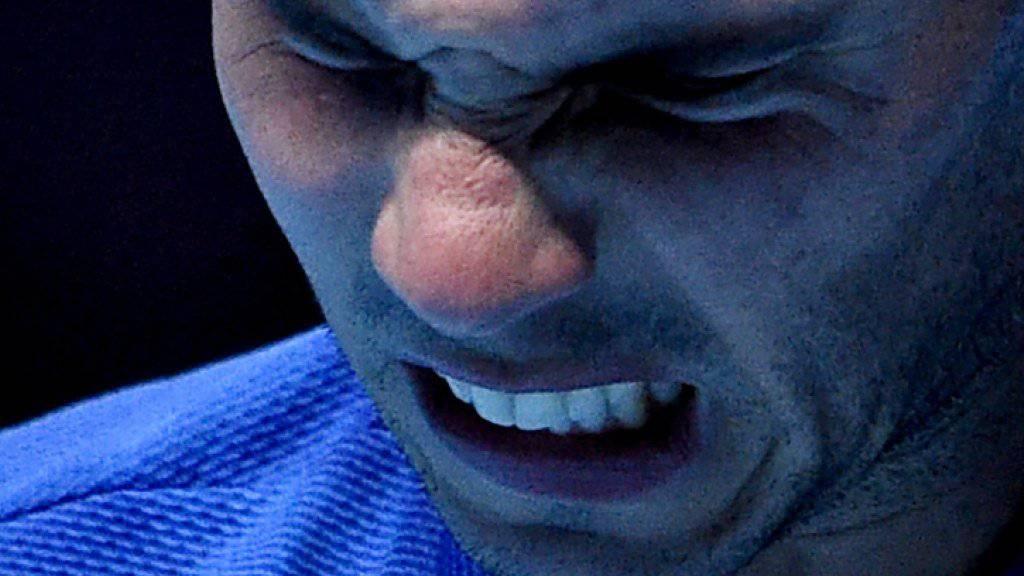 Die Schmerzen waren zu stark: Rafael Nadal muss bei den ATP Finals für die restlichen beiden Gruppenspiele Forfait erklären