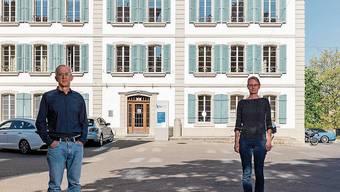 Im Sommer müssen Rektor Andreas Schmid und Schulleiterin Franziska Bösiger das KV-Schulhaus verlassen.