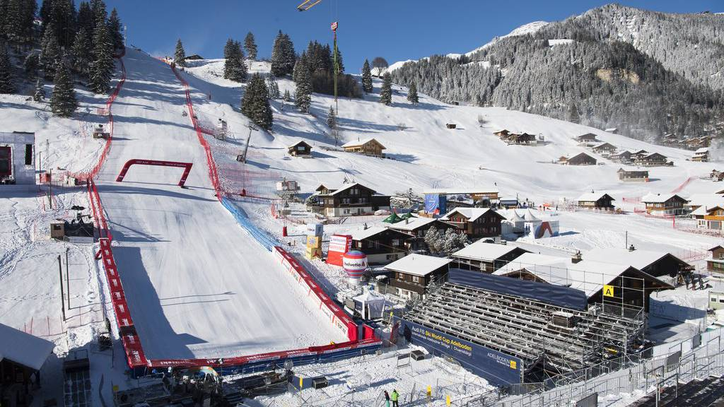 Letzte Vorbereitungen für die Weltcup-Rennen in Adelboden