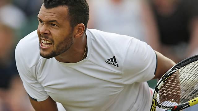 Jo-Wilfried Tsonga besiegte Djokovic zum sechsten Mal (Archivbild)