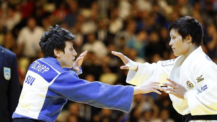 Evelyne Tschopp (links) scheiterte an den WM in Tokio in der dritten Runde