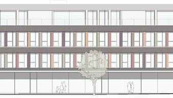 So sieht das geplante Ärztezentrum mit Gruppenpraxis aus – in knapp zwei Jahren soll das Projekt realisiert sein.  hüsser+partner/zvg