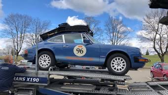 Daniel Ehrlicher fährt mit seinem Porsche 911 von Peking nach Paris