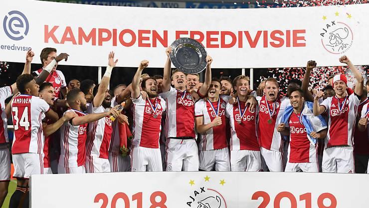 2019 jubelte Ajax Amsterdam, in diesem Jahr gibt es in den Niederlanden keinen Meister