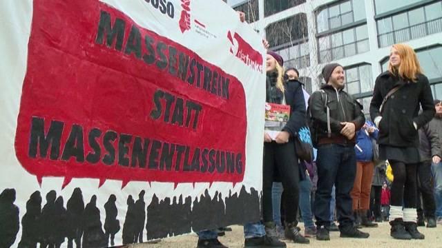 Demo gegen Alstom-Stellenabbau