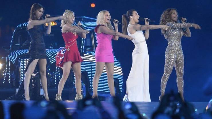 Das wird es nie wieder geben: Die Spice Girls 2012 bei der Abschluss-Zeremonie der Olympischen Spiele in London. (Archivbild)
