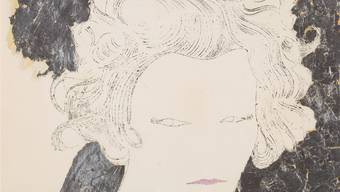 Andy Warhol (1928–1987): «Woman», um 1952/54. Tusche, Tempera und aufgeklebtes Blattsilber auf Papier. Blatt: grösste Masse: 36,8 x 37,3 Zentimeter. Kunstmuseum, erworben mit Mitteln der Max-Geldner-Stiftung 1997.Kunstmuseum Basel