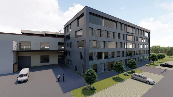 In Laufen soll das Technologie-Center des Logistikunternehmens im Frühjahr 2020 seinen Betrieb aufnehmen. zvg