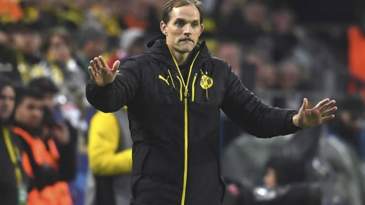 Dortmunds Trainer Thomas Tuchel am Tag nach dem Bombenanschlag