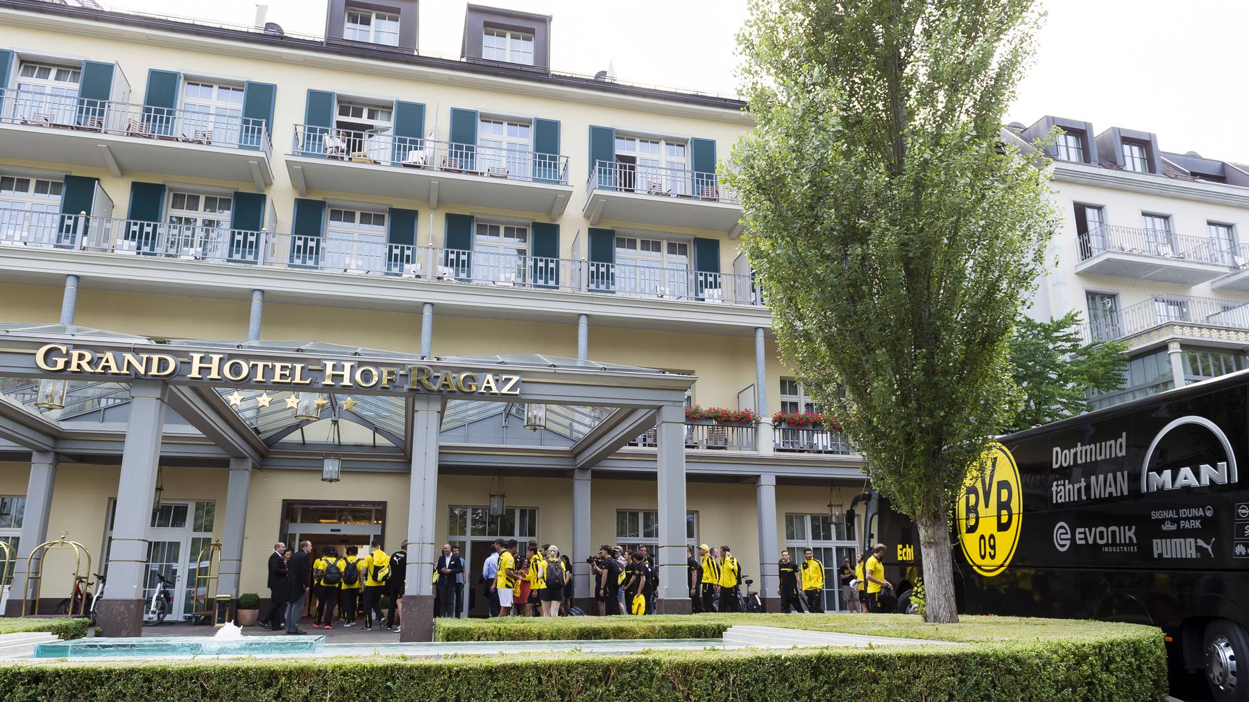 Borussia Dortmund im Grand Hotel in Bad Ragaz
