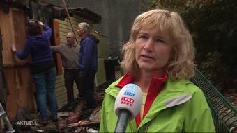 Während Eveline Meier ihren Urlaub geniesst, brennt ihre Hundeschule nieder. Die Besitzerin nimmt jetzt erstmals Stellung und begutachtet den Schaden.