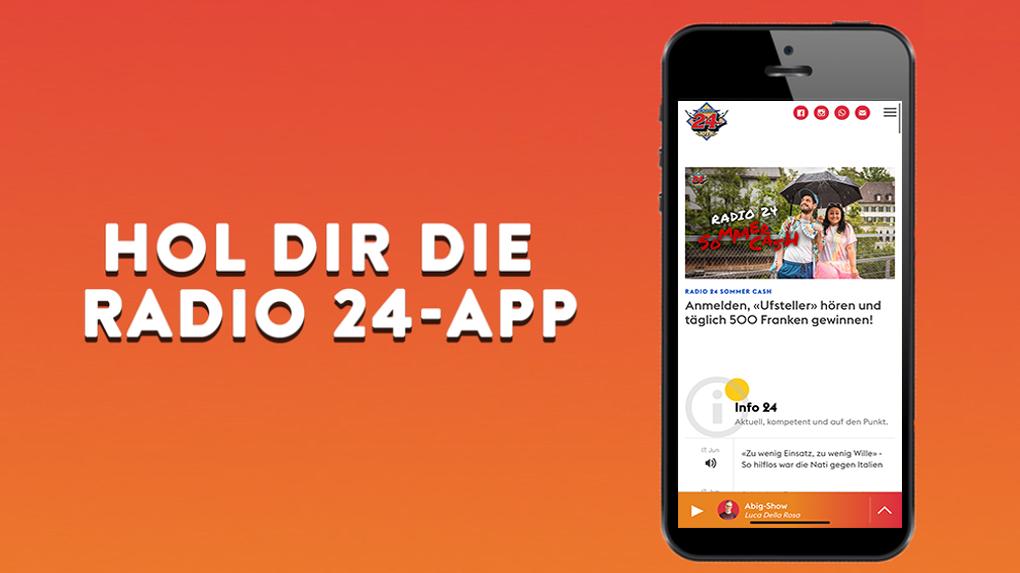 Die Radio 24-App im frischen Design ist da!