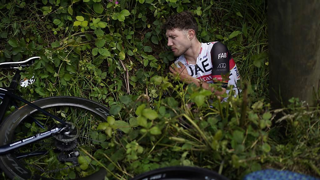 Nach seinem Sturz in der 1. Etappe geht es Marc Hirschi wieder besser. Er habe sich ziemlich gut erholt