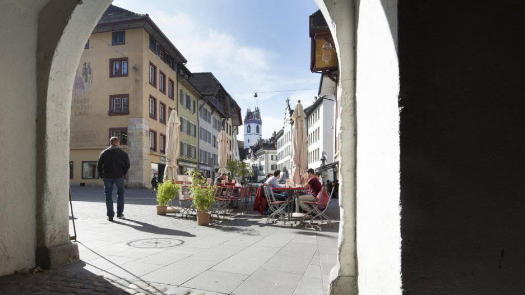 Die Altstadt von Aarau, Hauptort des Kantons Aargau (Archiv)