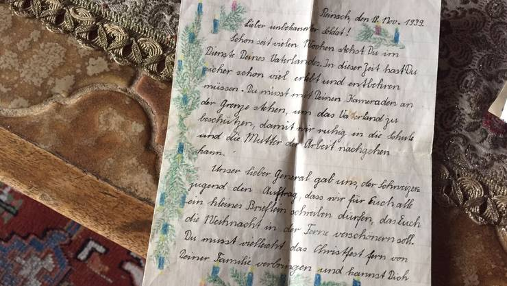 Dieses Brieflein hat Paul Wälti diese Woche zurückerhalten – nach 77 Jahren.