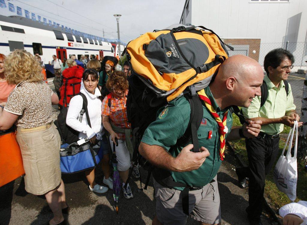 Gut 25000 Pfadis aus der ganzen Schweiz pilgern jeweils ins Bundeslager (© Keystone Steffen Schmidt)