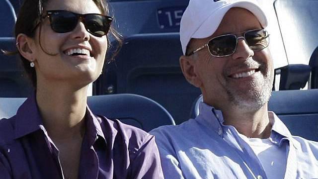 Emma Heming und Bruce Willis am US-Open