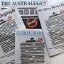 Schwarze Titelbilder am Montag: Protest gegen Einschränkungen der Pressefreiheit in Australien.