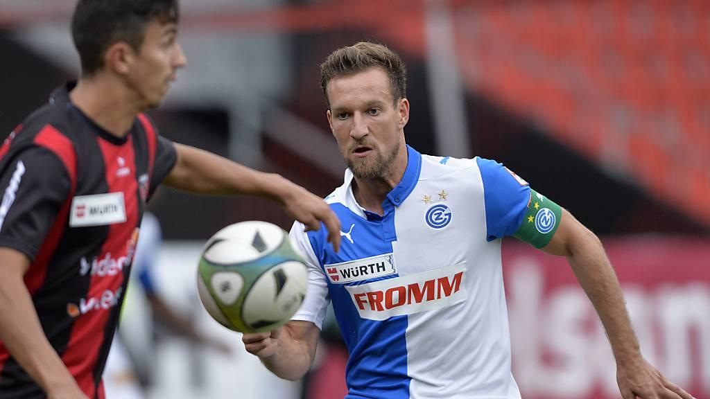 Daniel Pavlovic (rechts) verliess die Grasshoppers im Sommer 2016 in Richtung Italien. Seither spielte der Ostschweizer für Frosinone, Crotone, Sampdoria Genua und Perugia