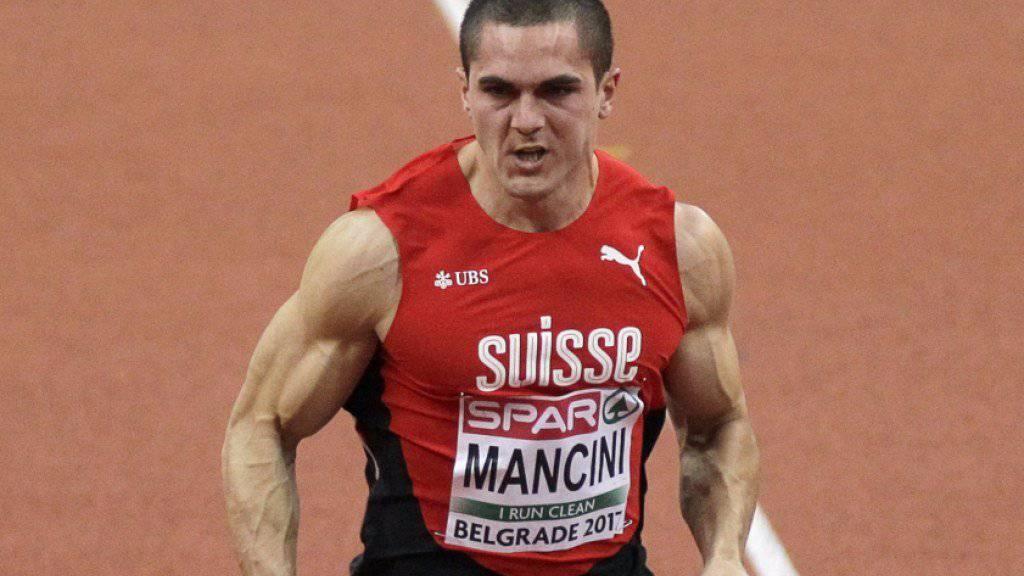 Überzeugte im Halbfinal, lief im Final über 60 Meter der Konkurrenz aber hinterher: Pascal Mancini