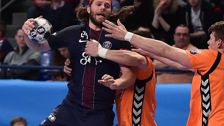 Die Kadetten (in Orange) können die favorisierten Pariser nicht bis zum Ende bedrängen