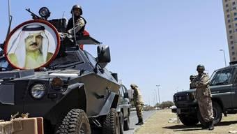 Regimetreue Soldaten in Bahrains Hauptstadt Manama
