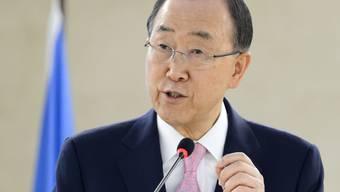 UNO-Generalsekretär Ban Ki Moon hat in einem Bericht an den UNO-Sicherheitsrat die iranischen Raketentests vom März kritisiert. (Archiv)