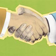 Sie die Hände zu schütteln, bedeutet für uns, sich gegenseitig zu anerkennen.Getty Images
