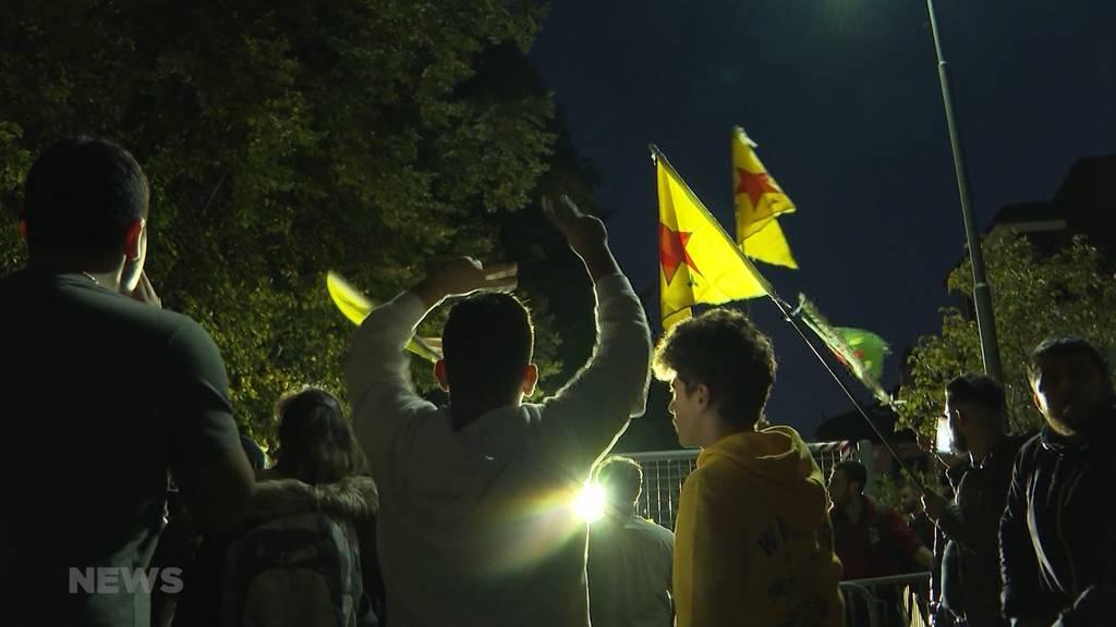 Ausschreitungen bei Kurden-Demonstration in Bern