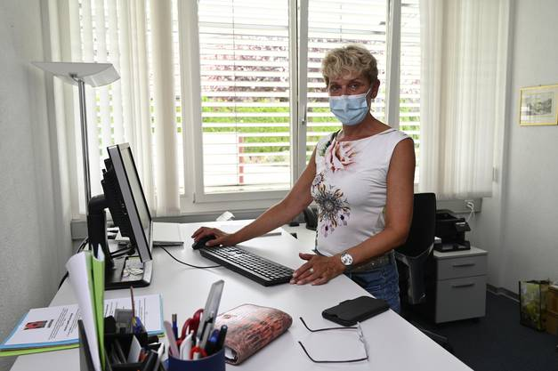 Sonja Leuenberger, Geschäftsleiterin der Alterszentren Grenchen in ihrem Büro im Kastels.