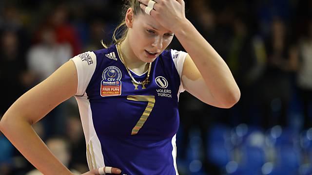 Frust nach dem Ausscheiden im Halbfinal: Voleros Olesia Rychljuk