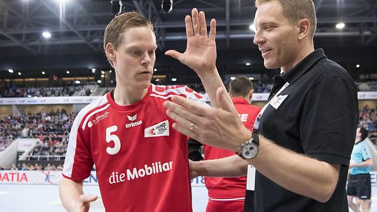 Manuel Liniger (links) verfolgt das Nationalteam auch nach dem Karriereende mit grossem Interesse