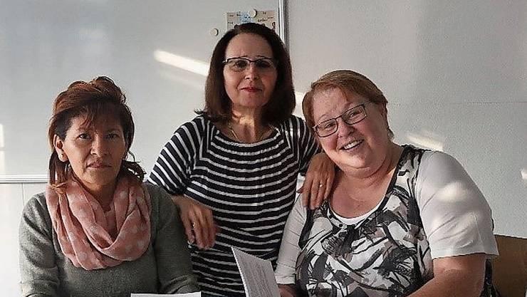 Die drei Gastgeberinnen des Café Mondo (von links): Marisol Schüepp, Graziella Licari und Silvia Bühler.
