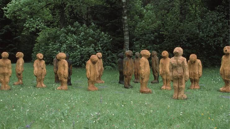 «Die Gerechten» stehen im Aussenbereich des Gertsch-Museums Burgdorf.zvg