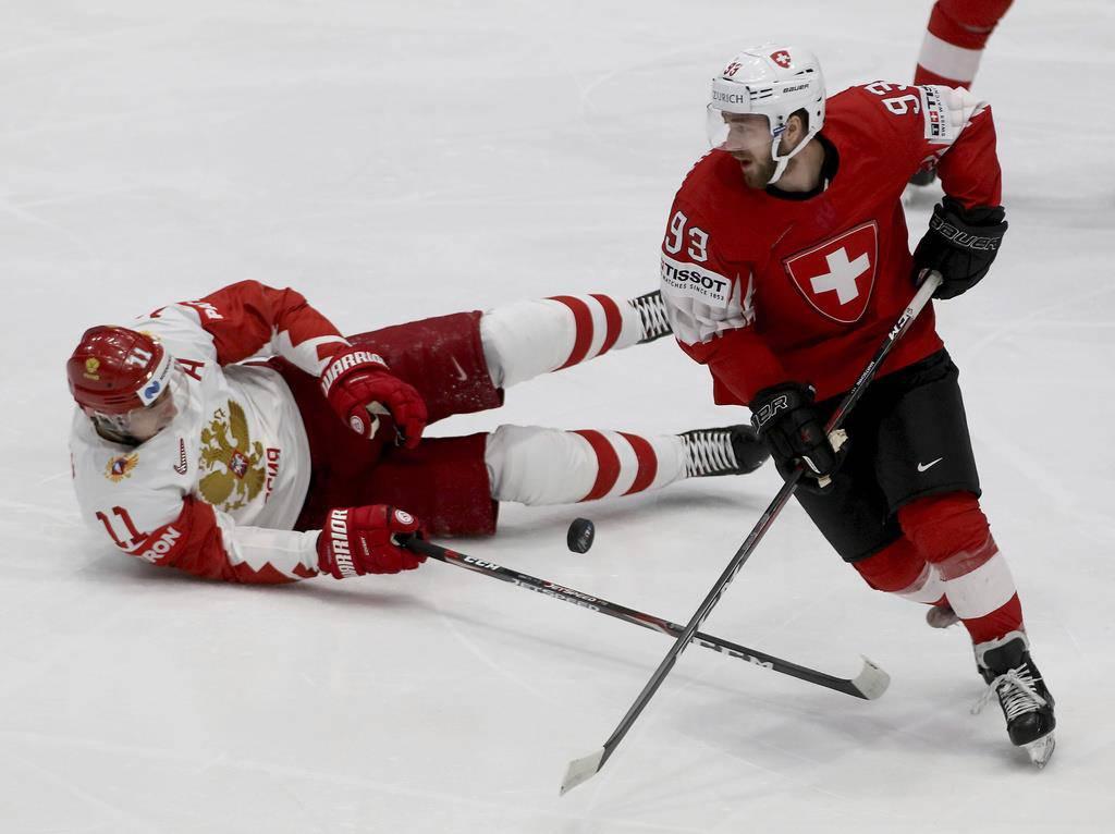 Eishockey-WM: Schweiz gegen Russland (© Keystone)