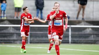 Basil Gmür und der FC Baden möchten endlich auch in Aufstiegsspielen jubeln.