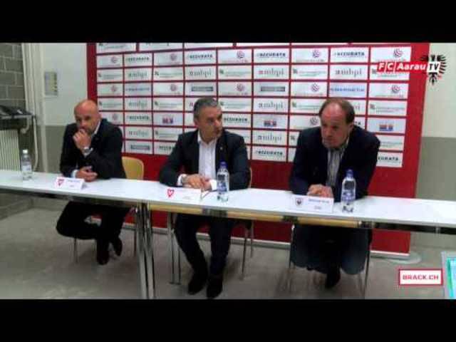 FC Vaduz - FC Aarau: Interviews mit Captain Sandro Burki und Torschütze Dante Senger sowie die Pressekonferenz mit den beiden Trainern Raimondo Ponte und Giorgio Contini.