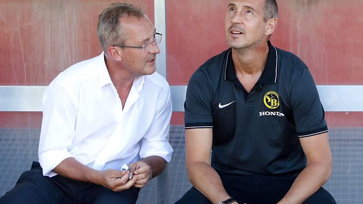 Fredy Bickel (links) und Adi Hütter träumen von der Champions-League-Gruppenphase mit YB