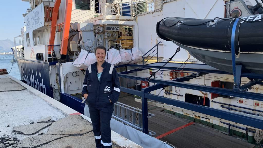 Diese Frau war bei Rettungseinsätzen im Mittelmeer dabei