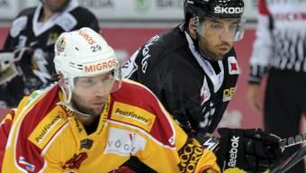 Christian Moser (links) spielt weiterhin in der NLA
