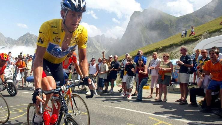 Heute müssen Contador und Schleck an diesem Berg leiden - genau wie Armstron 2003.